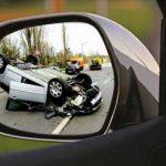 Accidentes de tráfico en un retrovisor